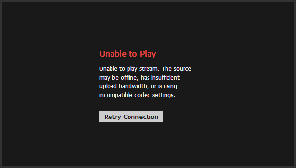 BitTorrent Live - Unable to Play