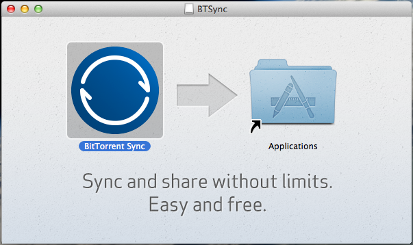 Bittorrent Sync Install-Mac