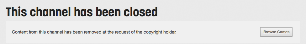 UMG Channel Closed DMCA